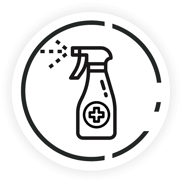 Sanificabile con prodotti a base di cloro